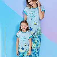 Пижама детская девичья 3/98 см, Голубой