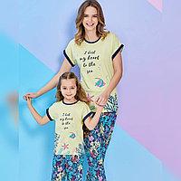 Пижама детская девичья 4/104 см, Лимонный