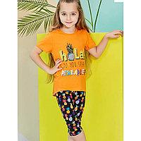 Пижама детская девичья 2 /92 см, Оранжевый