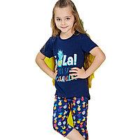 Пижама детская девичья 4/104 см, Синий