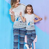 Пижама детская девичья 2/92 см, Кремовый