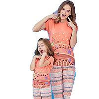 Пижама детская девичья 5/110 см, Абрикосовый