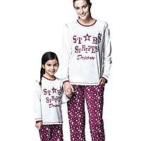 Пижама детская девичья 4/104 см, Розовый