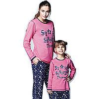 Пижама детская девичья 5/110 см, Розовый