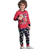 Пижама детская мальчиковая 2/92 см, Красный