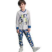 Пижама детская мальчиковая 2/92 см, Светло-серый