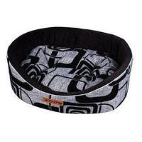 Лежак Премиум (флок) №4 серый КСОДИ 64*49*20 см