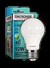 LED Лампа Dauscher A60 10W E27 4200K 90lm/w Нейтральный цвет