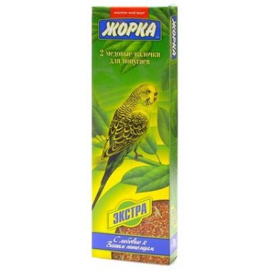 Медовые палочки экстра для волнистых попугаев, Жорка, 2х80гр.