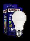 LED Лампа Dauscher A60 15W E27 6400K 90lm/w Холодный цвет