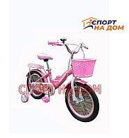 """Велосипед детский Forever """"Корона"""" (розово-лиловый) 4-5 лет"""