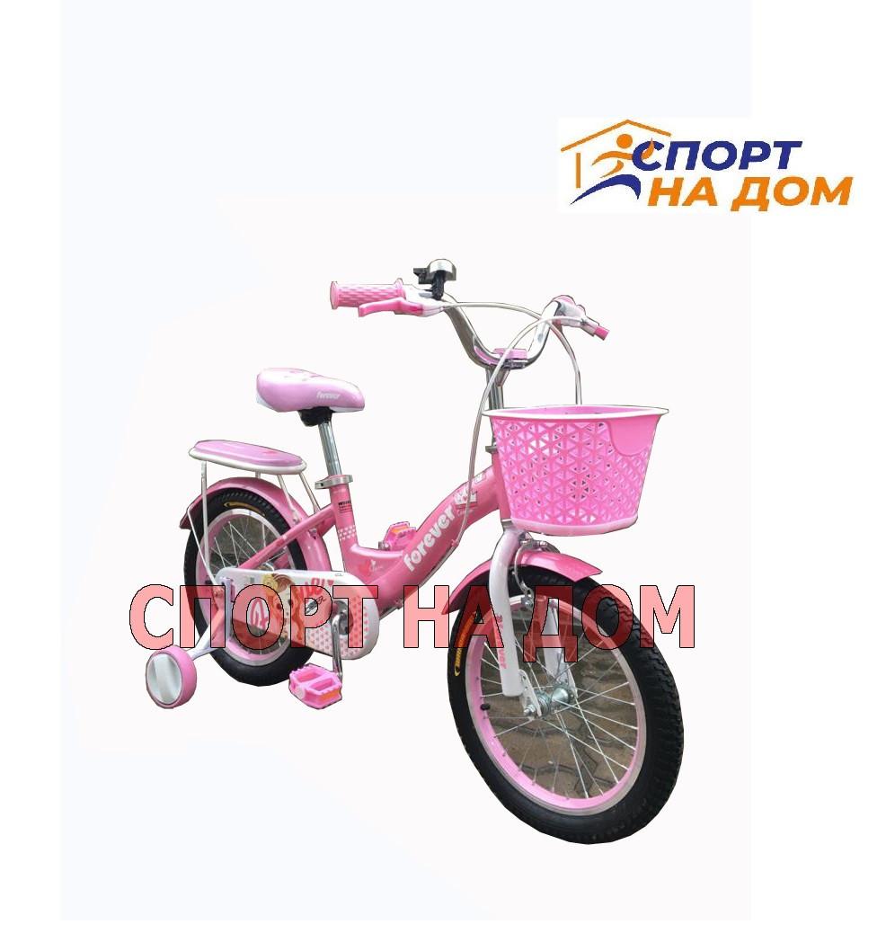 """Велосипед детский Forever """"Корона"""" (розово-лиловый) на 5-7 лет - фото 1"""