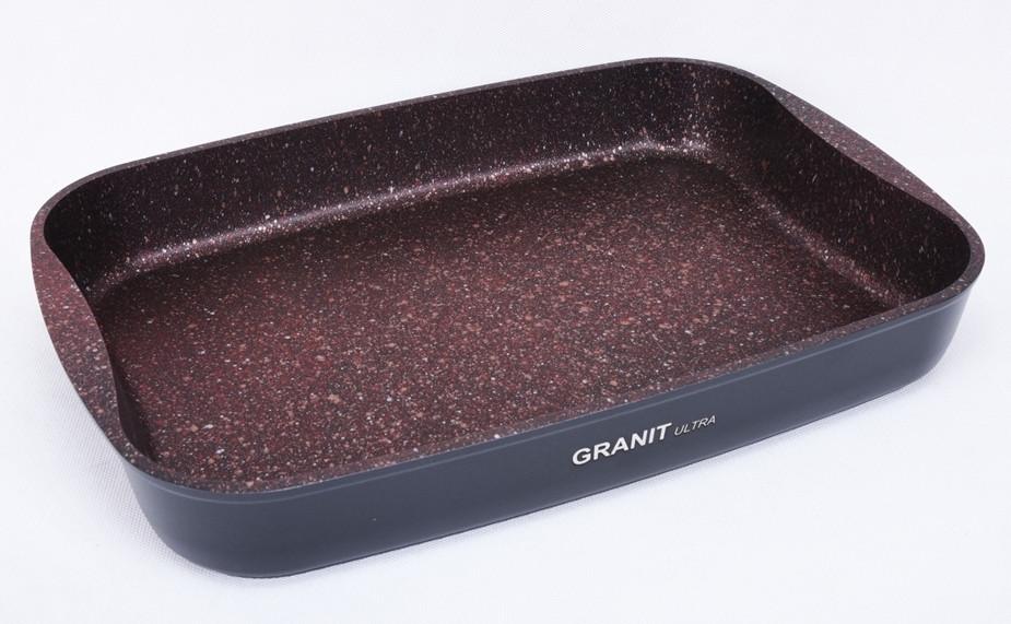 """Противень 335х220х55, каменное антипригарное покрытие """"Granit Ultra"""" (red)"""