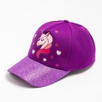 Бейсболка для девочки, цвет фиолетовый, размер 54-56