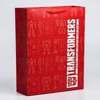 Пакет ламинат вертикальный , 31х40х11 см, Transformers
