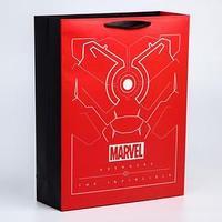 Пакет ламинат вертикальный 'Tony Stark', 31х40х11 см, Marvel