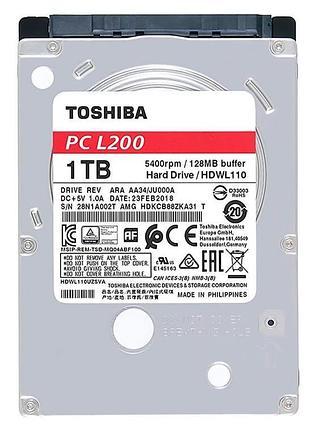 "Жесткий диск для ноутбука 1Tb TOSHIBA SATA 6Gb 2.5"" 5400rpm 128Mb Толщина 7мм HDWL110UZSVA, фото 2"