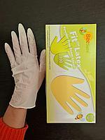 Перчатки нестерильные латексные текстурированные неопудренные смотровые размер М