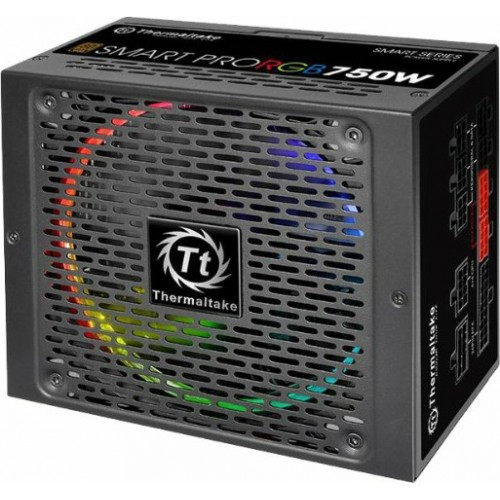 Блок питания, Thermaltake, Smart Pro RGB 750W, PS-SPR-0750FPCBEU-R, 750W, ATX, 80 Plus Bronze, APFC, 20+4 pin,