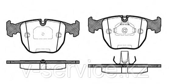 Тормозные колодки YOTO G-232(MD 8299)(REMSA 596.00)