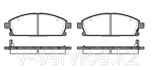Тормозные колодки YOTO G-236(MD 1211M)(REMSA 674.02)