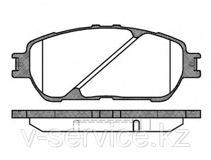 Тормозные колодки YOTO G-262(MD 2223)(REMSA 898.00)