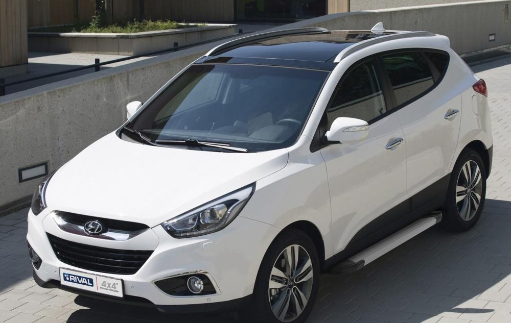 "Пороги ""Silver"" Hyundai IX35 (2010-2015)/Kia  Sportage (2010-2015)"
