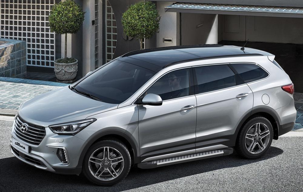 "Пороги ""Bmw-Style"" Hyundai Grand Santa Fe (2014-2018)"