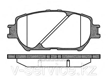 Тормозные колодки YOTO G-263(MD 2222)(REMSA 884.00)