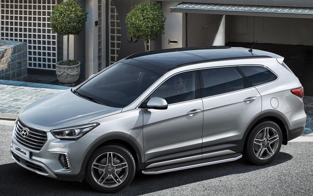 "Пороги ""Premium""  Hyundai Grand Santa Fe (2012-2017)"