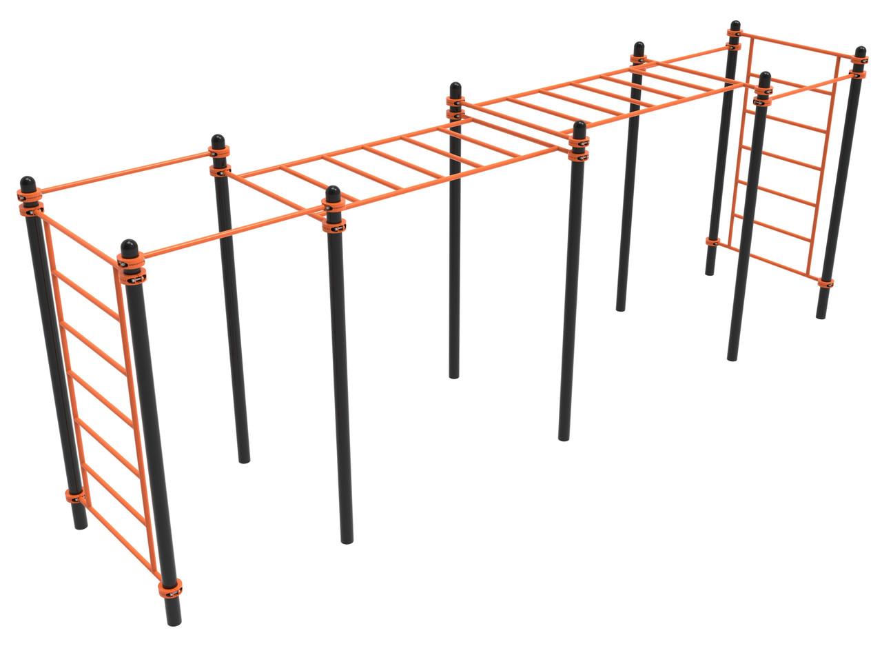 Комплекс турников 4, рукоход 2 уровня, шведская стенка 2 Воркаут