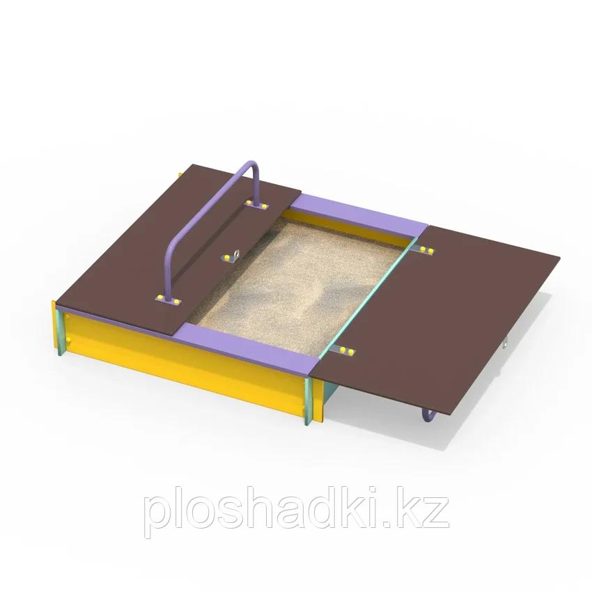 Песочница с крышкой и ручками 1,5x1.5