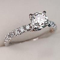 Сертификат GIA 1,41Сt SI2/M VG-Cut Золотое кольцо с бриллиантами, фото 1