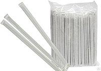 Трубочка отдельно упакованная d0.5*24см бел с полосками 500шт/уп