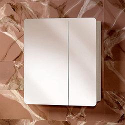 Зеркальная полка «Акваль Сеул» 65 см. светлая