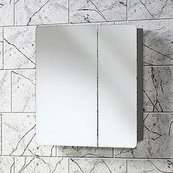 Зеркальная полка «Акваль Сеул» 65 см. серая