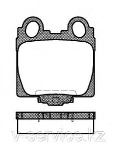 Тормозные колодки YOTO G-279(MD 2173M)(REMSA 743.04)