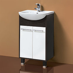 Тумба для ванной «Акваль Карина» 50 см. Умывальник в комплекте: «Люкс-Сити-Т-Л (50)»