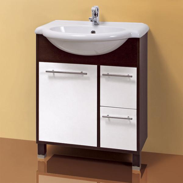Тумба для ванной «Акваль Карина» 70 см. Умывальник в комплекте: «Люкс-Верона Л 70»