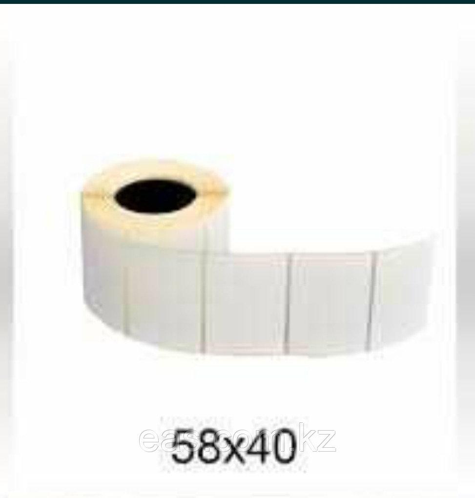 Термоэтикетка 58х40х500 в рулоне