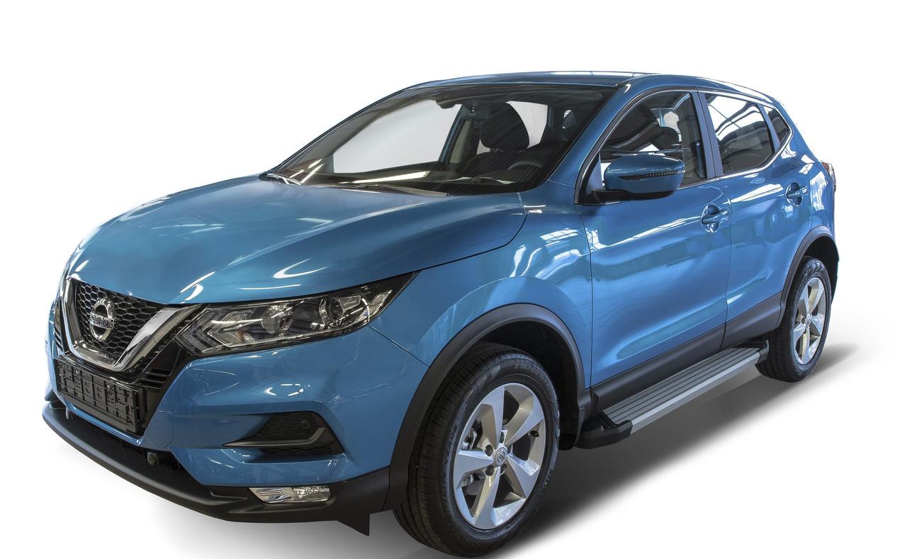 "Пороги ""Silver"" Nissan X-Trail(2015-2021)/Koleos (2017-2021)/Qashqai (2013-2021)"