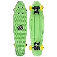 Скейтборд Пенниборд 56 х 15 см, колеса PVC 50 мм, пластиковая рама, цвет салатовый
