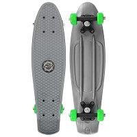 Скейтборд Пенниборд 56 х 15 см, колеса PVC 50 мм, пластиковая рама, цвет серый