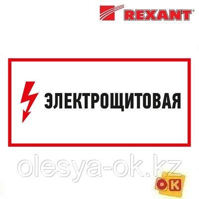 """Наклейка знак электробезопасности """"Электрощитовая""""150*300 мм Rexant (56-0004) (REXANT)"""