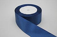 Атласная лента 40 мм. (4 см.) - синяя (038/153)