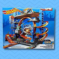 Hot Wheels, Игровой набор Легендарный гараж с акулой