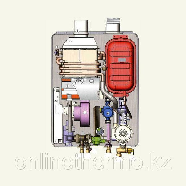 Котел LOTTE E&M Hi-Q RGB F136 RC, Настенные газовые (Южная Корея) в подарок дымоход - фото 6