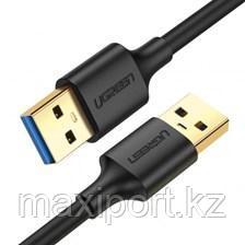 Кабель Ugreen USB 3.0 A + A 0,5 м черный, фото 2