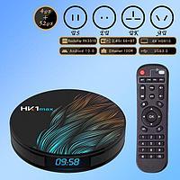 Android TV HK1 Max (PK3318 Quad-Core 64-bit ARM Cortex-A53 2ГГц/GPU Mali-450 750 МГц/ DDR3 4 ГБ/eMMC 32 ГБ/