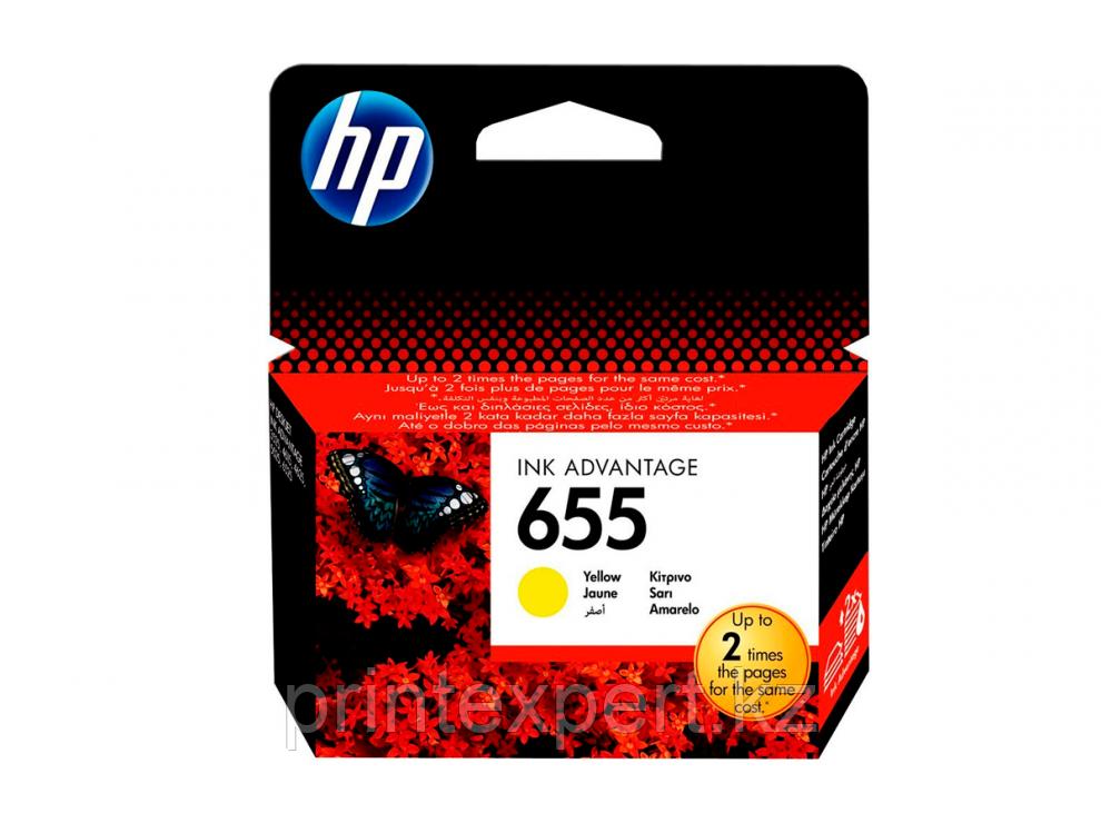 Картридж струйный HP Yellow №655